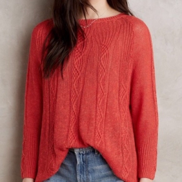 Anthropologie Sweaters - Rosie Neira Coral Sweater